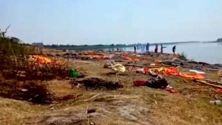 গঙ্গায় ভেসে উঠছে করোনায় মৃত শতাধিক লাশ, ভারতে নতুন আতঙ্ক